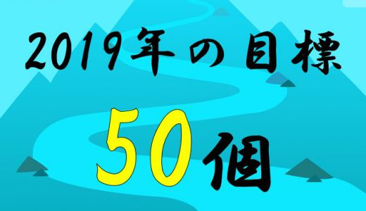 2019年の目標 50個